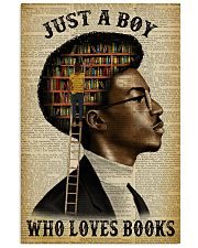 Just A Boy Who Loves Books Black Reading 11x17 Poster front