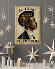 Just A Boy Who Loves Books Black Reading 11x17 Poster lifestyle-holiday-poster-1