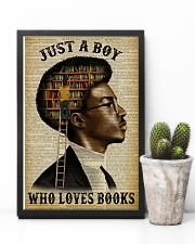 Just A Boy Who Loves Books Black Reading 11x17 Poster lifestyle-poster-8