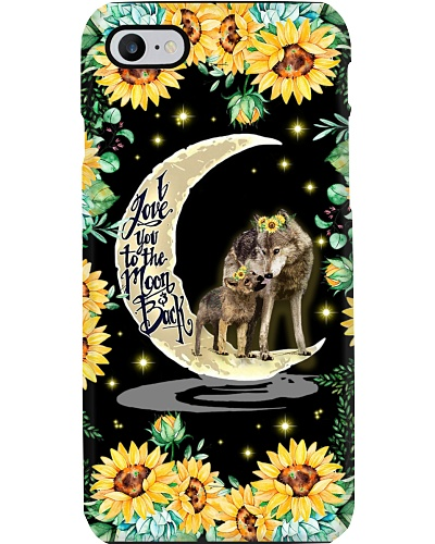 Sunflower Love You To The Moon Wolf