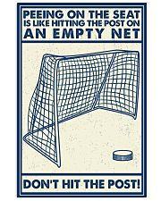 Retro Hockey Funny Don't Hit The Post 16x24 Poster front