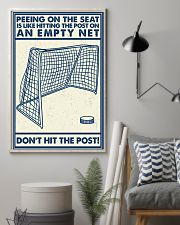 Retro Hockey Funny Don't Hit The Post 16x24 Poster lifestyle-poster-1