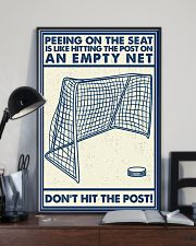 Retro Hockey Funny Don't Hit The Post 16x24 Poster lifestyle-poster-2