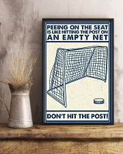 Retro Hockey Funny Don't Hit The Post 16x24 Poster lifestyle-poster-3
