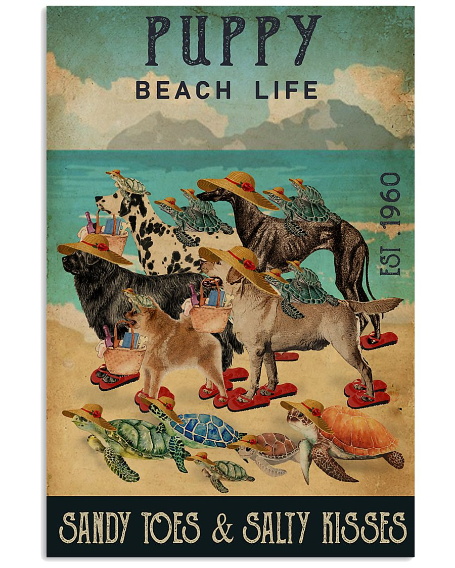 Turtle Beach Life Puppy 16x24 Poster
