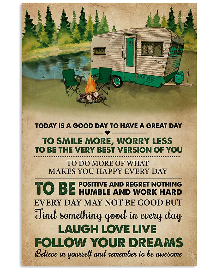 Remember To Be Awesome Camping 11x17 Poster
