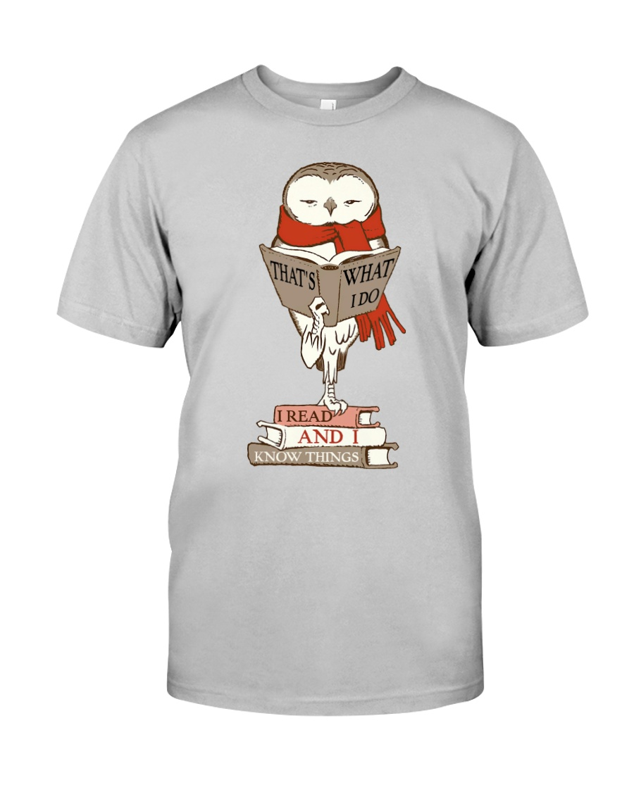 Owl Read And Know Things - On Sale Classic T-Shirt