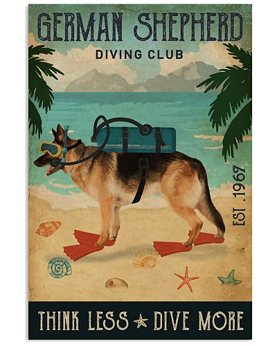 Vintage Diving Club German Shepherd