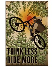 Retro Think Less Ride More Mountain Bike 11x17 Poster front