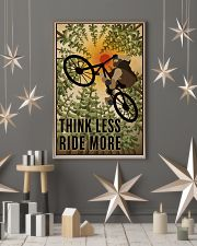 Retro Think Less Ride More Mountain Bike 11x17 Poster lifestyle-holiday-poster-1