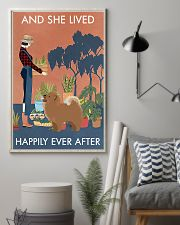 Vintage And She Lived Happily Gardening Chow Chow 11x17 Poster lifestyle-poster-1
