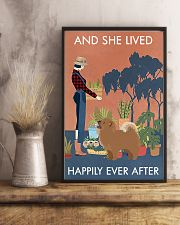 Vintage And She Lived Happily Gardening Chow Chow 11x17 Poster lifestyle-poster-3