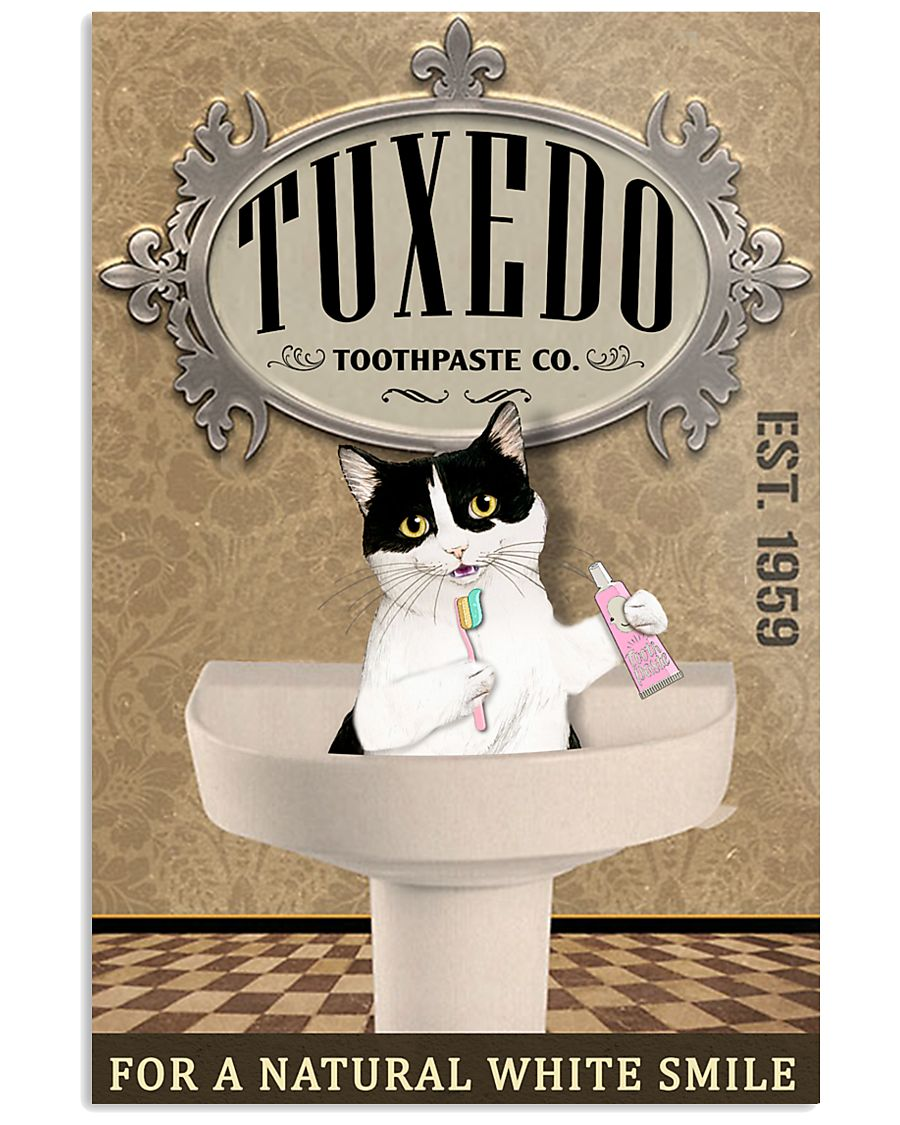 Tuxedo Toothpaste Co Cat Lover 11x17 Poster
