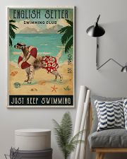 Vintage Swimming Club English Setter 11x17 Poster lifestyle-poster-1