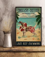 Vintage Swimming Club English Setter 11x17 Poster lifestyle-poster-3