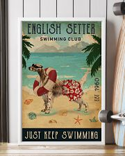 Vintage Swimming Club English Setter 11x17 Poster lifestyle-poster-4
