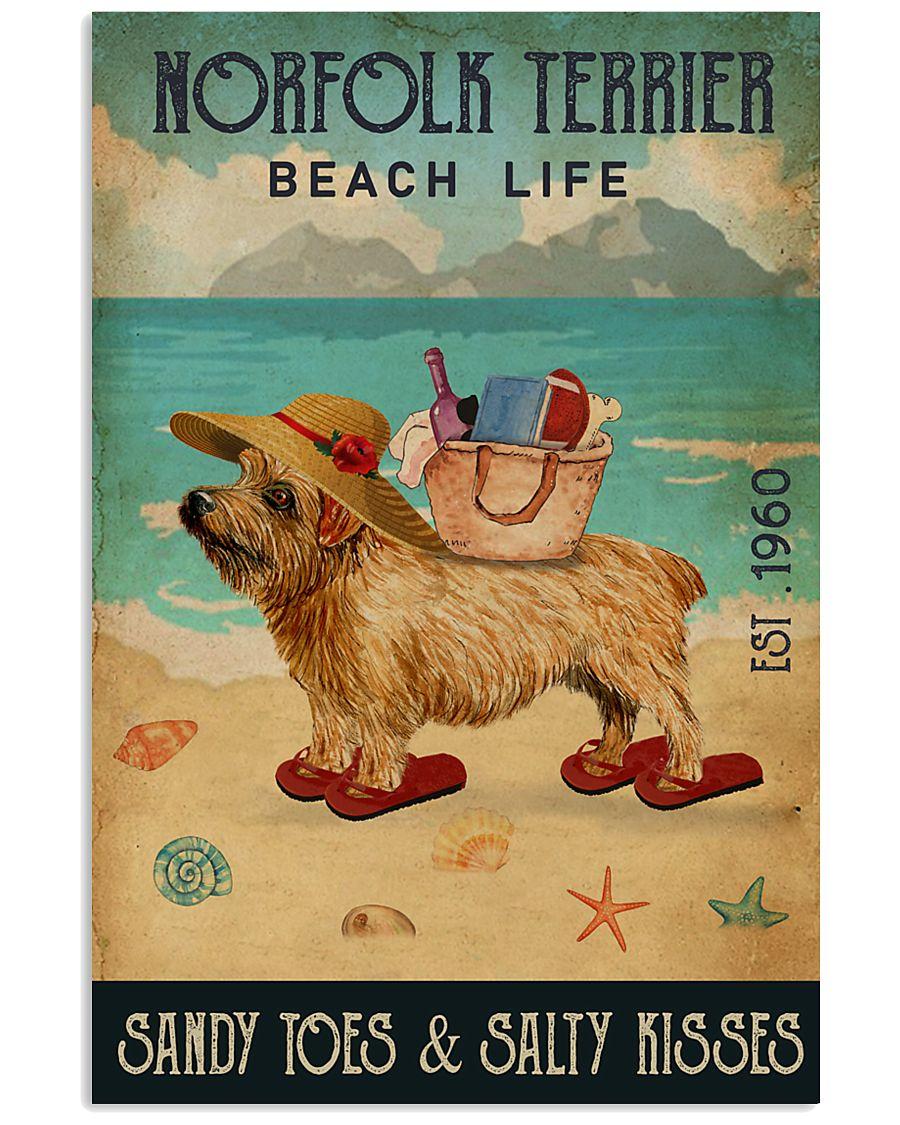 Beach Life Sandy Toes Norfolk Terrier 11x17 Poster