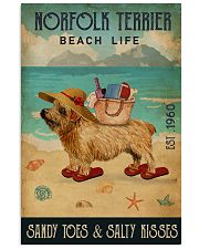 Beach Life Sandy Toes Norfolk Terrier 11x17 Poster front