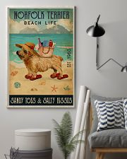Beach Life Sandy Toes Norfolk Terrier 11x17 Poster lifestyle-poster-1