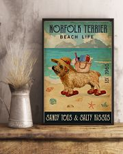 Beach Life Sandy Toes Norfolk Terrier 11x17 Poster lifestyle-poster-3