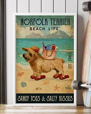 Beach Life Sandy Toes Norfolk Terrier 11x17 Poster lifestyle-poster-4