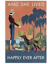 Vintage Live Happy Gardening German Shorthaired 11x17 Poster front