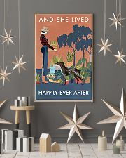 Vintage Live Happy Gardening German Shorthaired 11x17 Poster lifestyle-holiday-poster-1