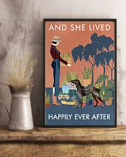 Vintage Live Happy Gardening German Shorthaired 11x17 Poster lifestyle-poster-3