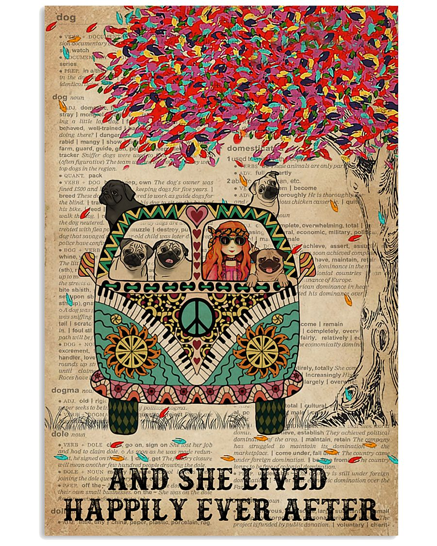 Dictionary And She Lived Happily Pug 11x17 Poster