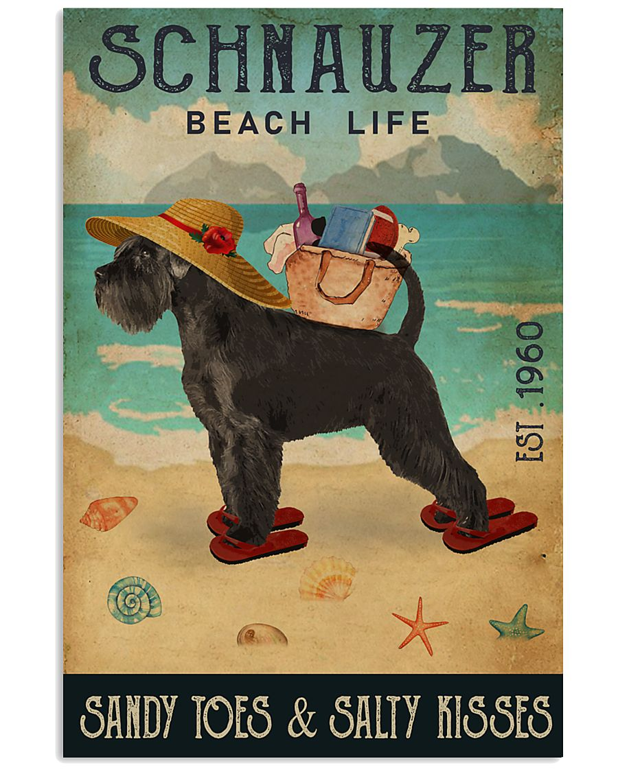 Beach Life Sandy Toes Schnauzer 11x17 Poster