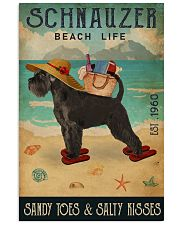 Beach Life Sandy Toes Schnauzer 11x17 Poster front