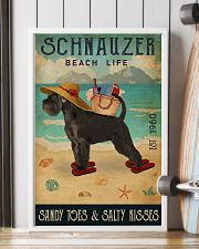 Beach Life Sandy Toes Schnauzer 11x17 Poster lifestyle-poster-4