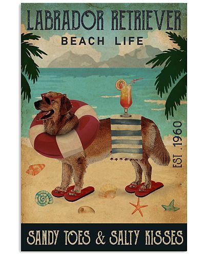 Vintage Beach Cocktail Life Labrador Retriever
