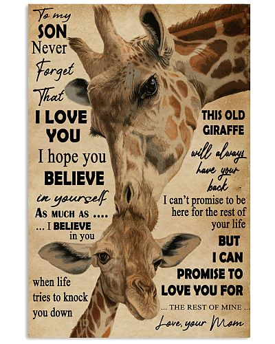 Never Forget That I Love You Giraffe Mom To Son