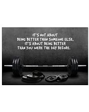 Gym Barbell It's Not About 24x16 Poster front