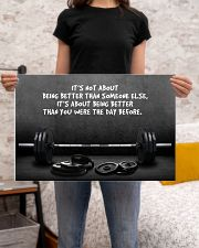 Gym Barbell It's Not About 24x16 Poster poster-landscape-24x16-lifestyle-20