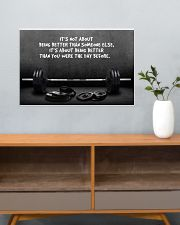Gym Barbell It's Not About 24x16 Poster poster-landscape-24x16-lifestyle-25