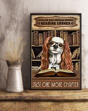 Reading Corner Book Cavalier King Charles Spaniel 11x17 Poster lifestyle-poster-3