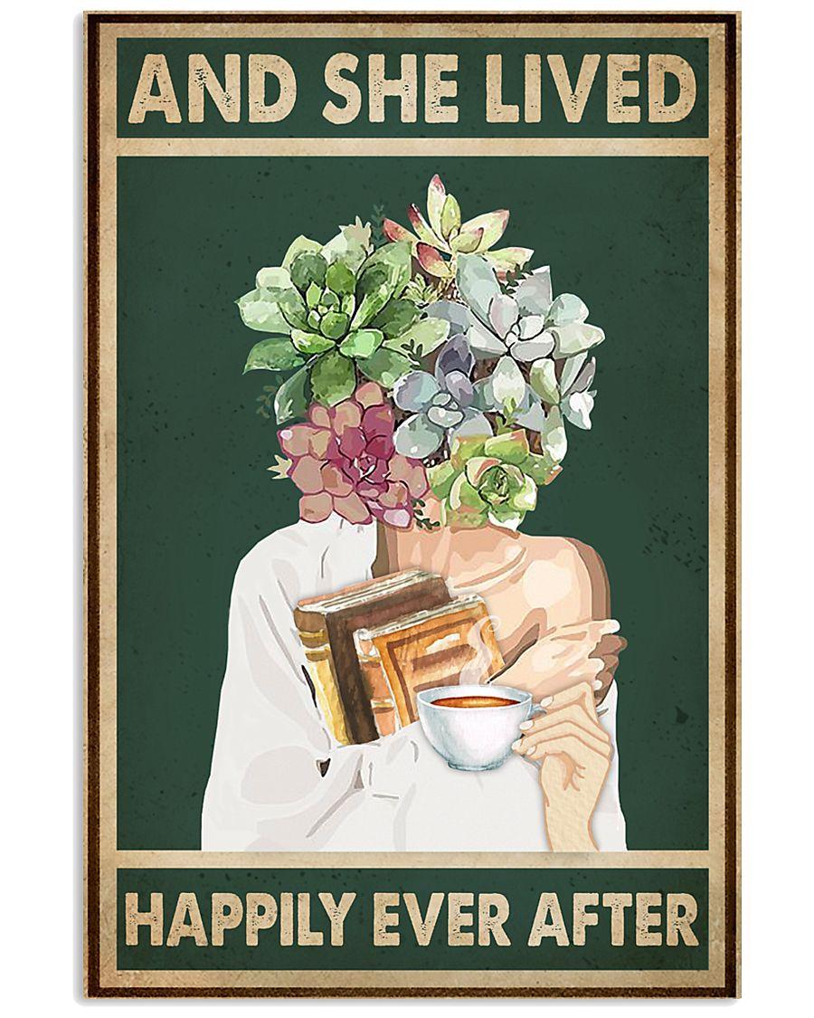 She Lived Happily Books Tea Garden 11x17 Poster