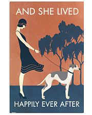 Vintage Girl Lived Happily Whippet 11x17 Poster front