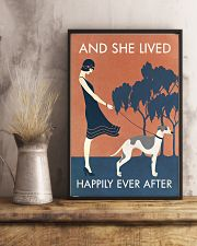 Vintage Girl Lived Happily Whippet 11x17 Poster lifestyle-poster-3