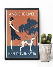 Vintage Girl Lived Happily Whippet 11x17 Poster lifestyle-poster-8