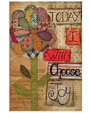 Today I Will Choose Joy Flower Sewing 16x24 Poster front