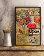 Today I Will Choose Joy Flower Sewing 16x24 Poster lifestyle-poster-3