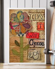 Today I Will Choose Joy Flower Sewing 16x24 Poster lifestyle-poster-4
