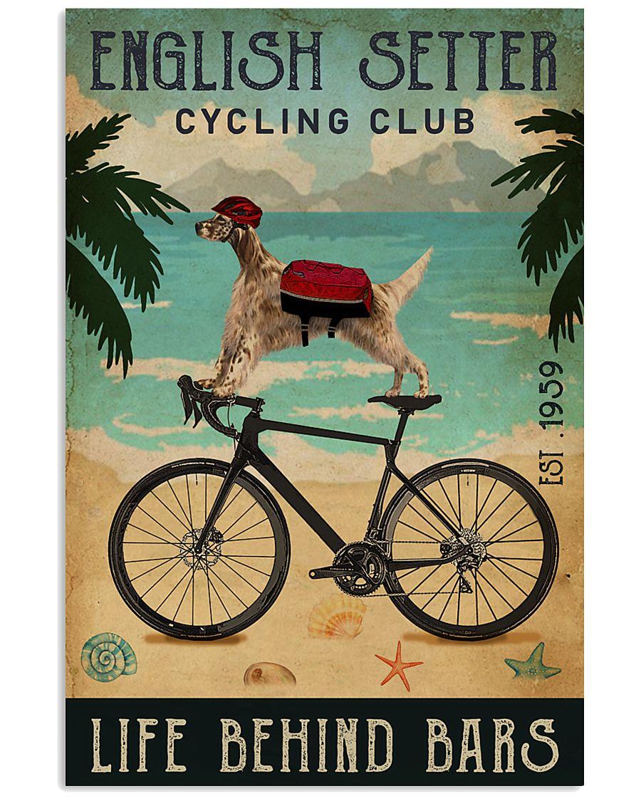 Cycling Club English Setter 11x17 Poster
