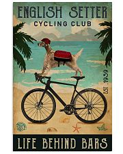 Cycling Club English Setter 11x17 Poster front