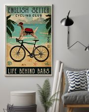Cycling Club English Setter 11x17 Poster lifestyle-poster-1