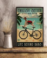 Cycling Club English Setter 11x17 Poster lifestyle-poster-3