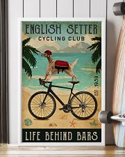 Cycling Club English Setter 11x17 Poster lifestyle-poster-4
